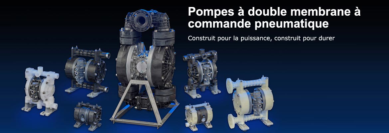 Pompes à double membrane à commande pneumatique, Construit pour la puissance, construit pour durer